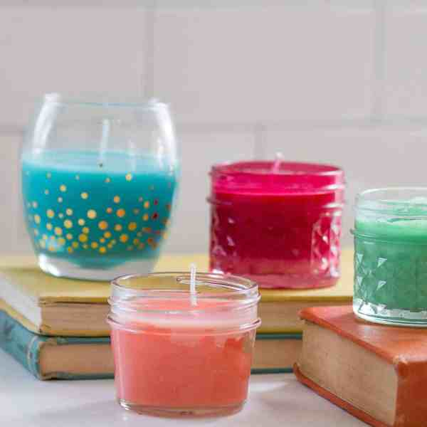 DIY  //  QUICK & EASY NO WAX CANDLES