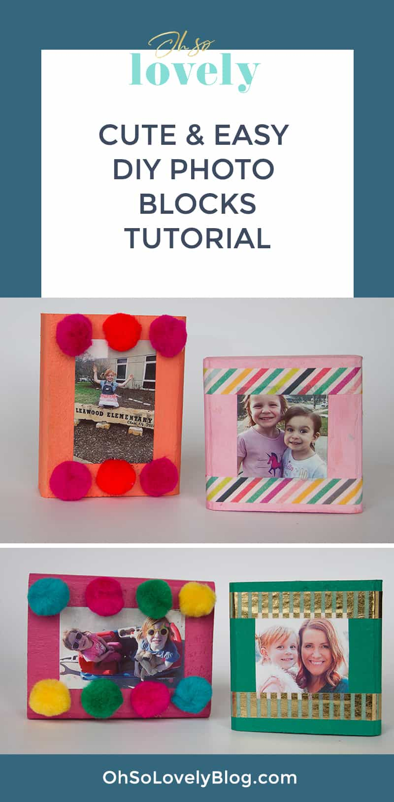 Audrey of Oh So Lovely Blog shares a super easy DIY photo blocks tutorial! Makes a perfect handmade day gift for any occasion.