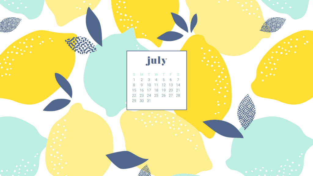 Download your summery and FREE July 2018 calendar wallpapers