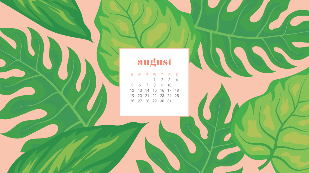 FREEBIES  //  AUGUST DESKTOP CALENDAR WALLPAPERS