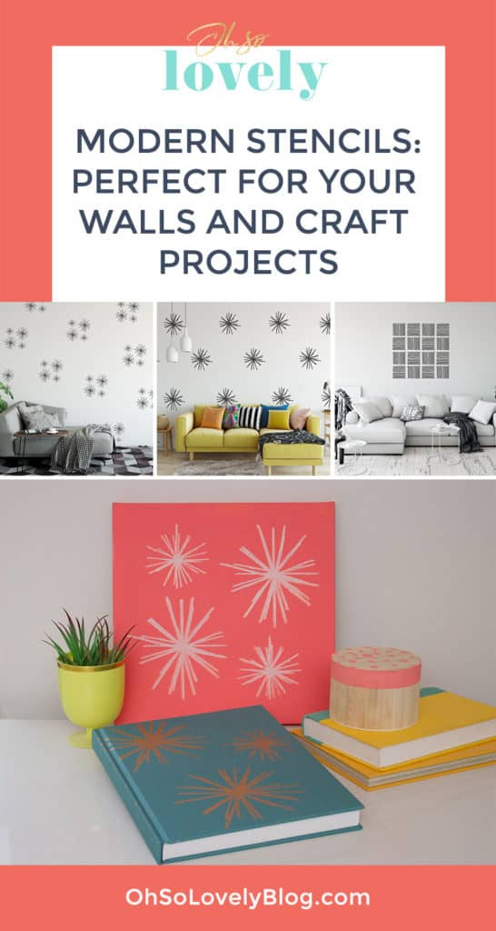 Audrey of Oh So Lovely Blog shares the modern stencils she designed exclusively for I Like That Lamp. They're perfect for walls, floors and furniture, but can also be used on nearly any material. Check out some of the DIY projects you can make with them!