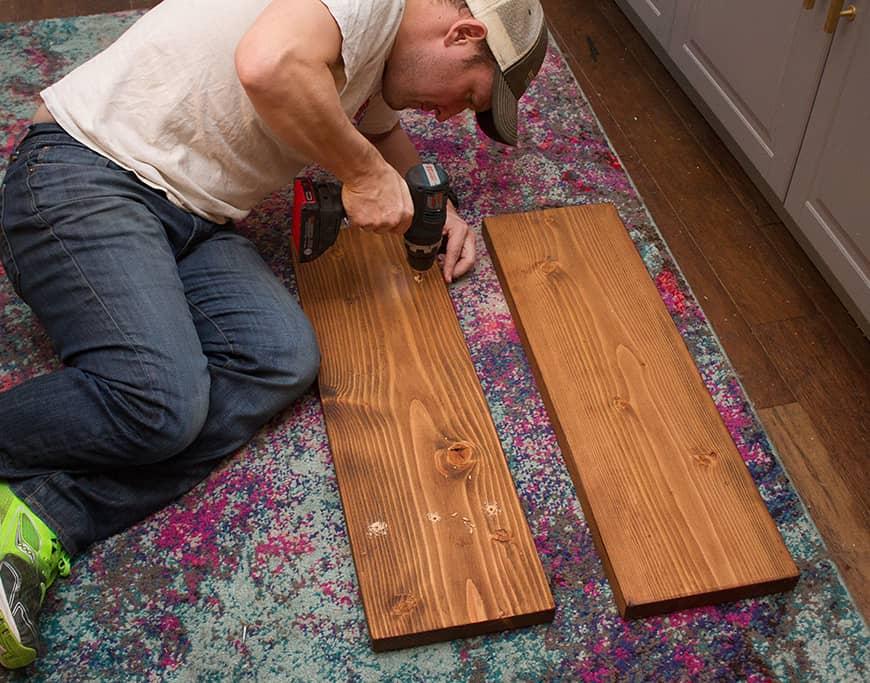 DIY kitchen open shelving tutorial