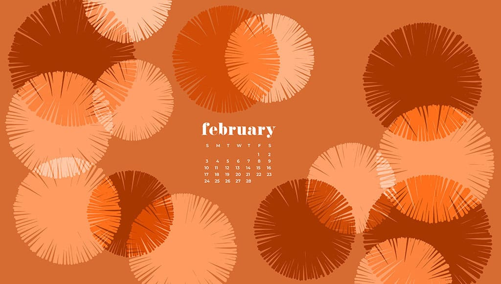 Audrey of Oh So Lovely Blog shares 9 FREE February desktop wallpaper calendars available in Sunday and Monday starts for desktop and mobile. download yours today!
