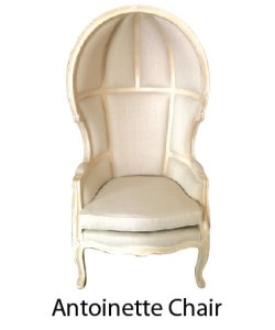 Vintage Classic French Chair Antoinette Off White Royal Royalty