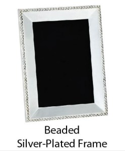 Beaded Silver-Plated Picture Frame
