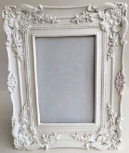 White Photo Frame Ornate