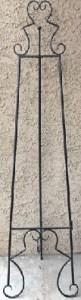 Metal Floor Standing Easel in Black
