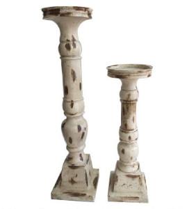 Wooden Candleholder Set