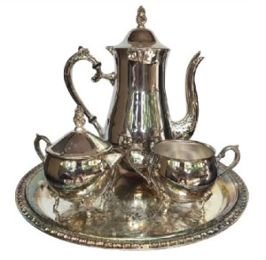 Silver Serverware Tea set Tea Pot in silver