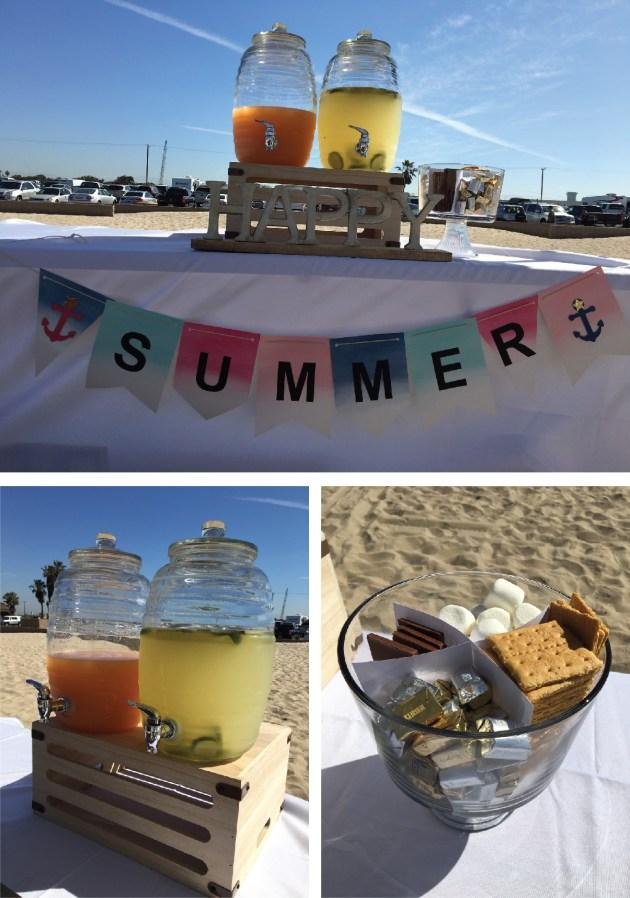 3.beach party setup food