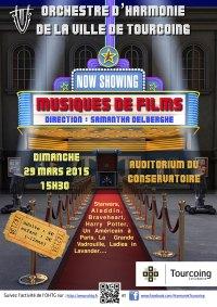 Affiche du Concert de musiques de Films du 29 mars 2015.