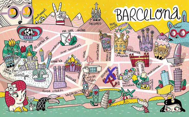 Mapa de Barcelona por Amaia Arrazola