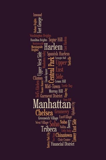 Mapa de Nova York por Michael Tompsett