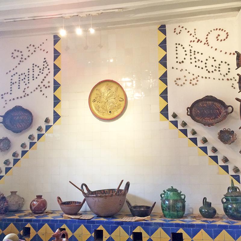 """""""Frida e Diego"""" na cozinha do Museu Frida Kahlo"""