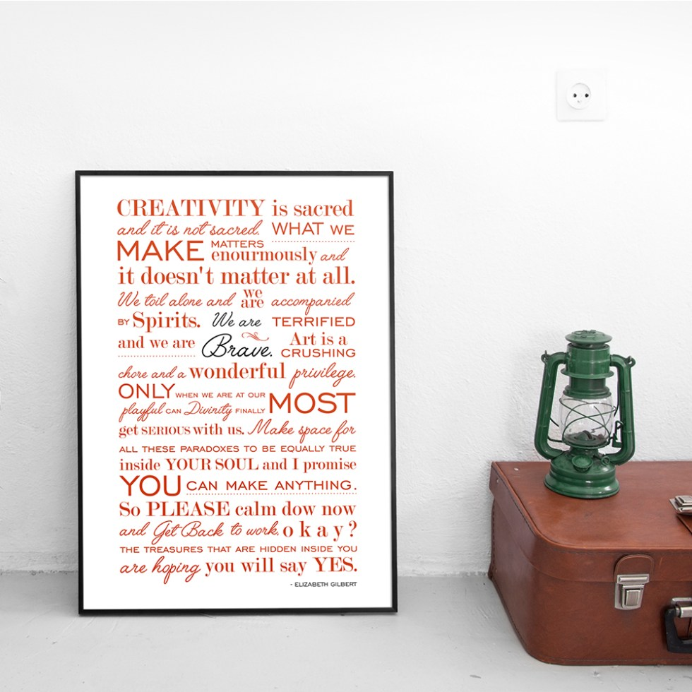 Poster Manifesto Big Magic Red