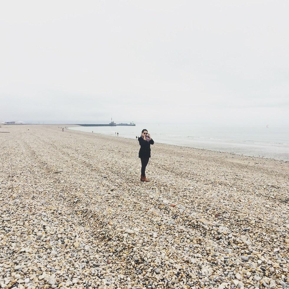 Praia em Le Havre, Normandia