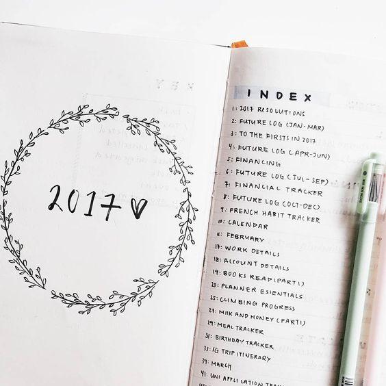 Index - Bullet Journal