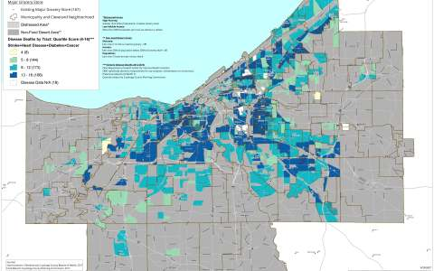 Cuyahoga County Food Deserts and Health Outcomes.