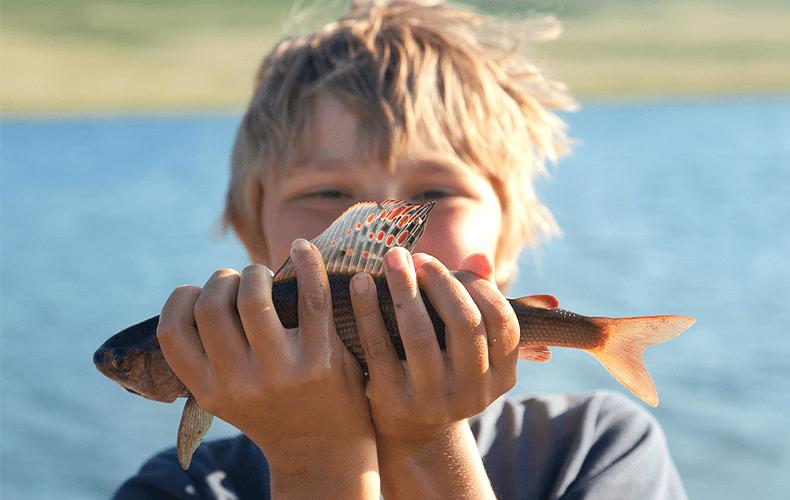 Vissen met Otis is beet!