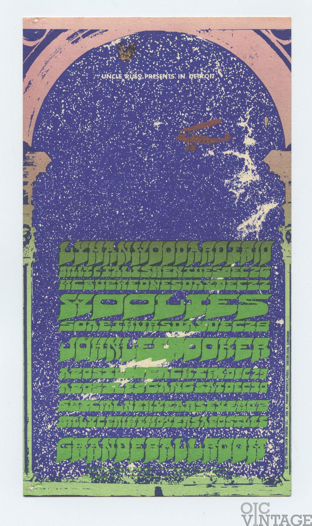 Grande Ballroom Postcard 1967 Dec 26 MC5 John Lee Hooker Condition Very Fine