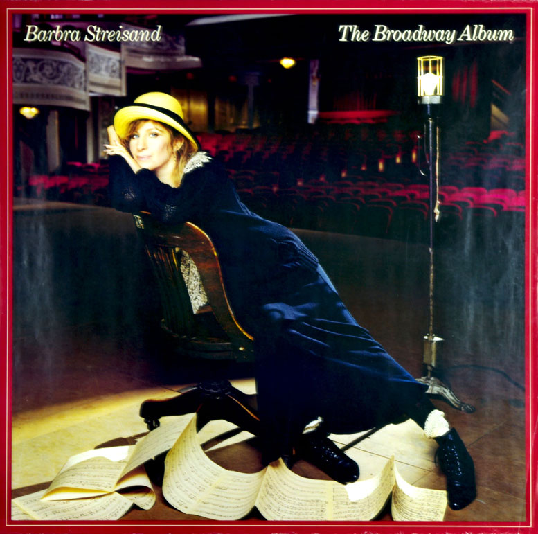 Barbra Streisand Poster 1985 The Broadway Album Promo Columbia Records 36 x 36