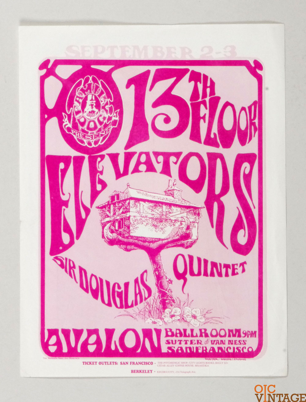 Family Dog  24 Handbill Tree House 1966 Sep 2 13th Floor Elevators