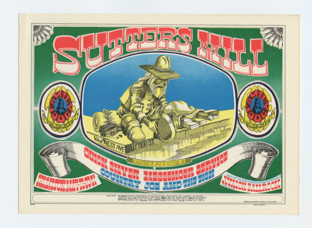 Family Dog 062 Postcard Sutters Mill 1967 May 19 Quicksilver Messenger Service