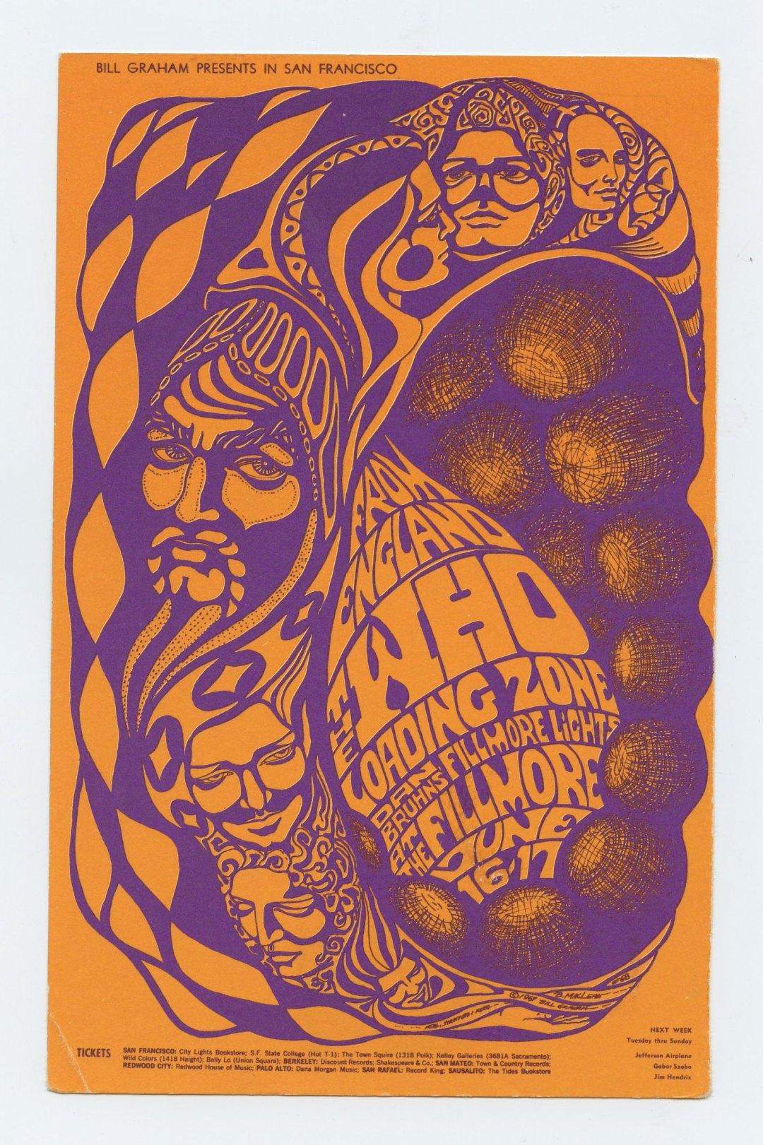 BG 68 Postcard Mailed The Who Loading Zone 1967 Jun 16