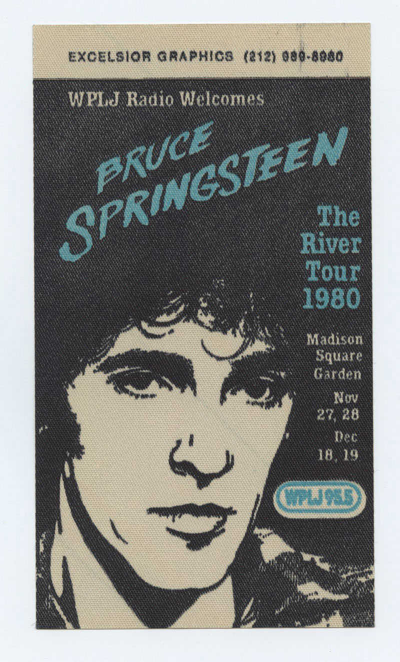 Bruce Springsteen Backstage pass The River Tour 1980 Madison Square Garden