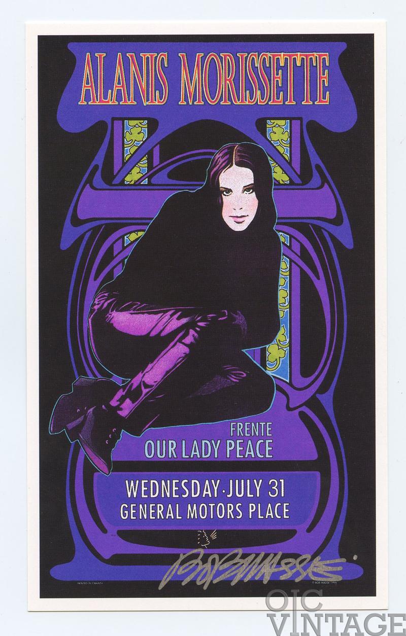 Alanis Morissette Handbill 1996 Jul 31 Vancouver Canada Bob Masse