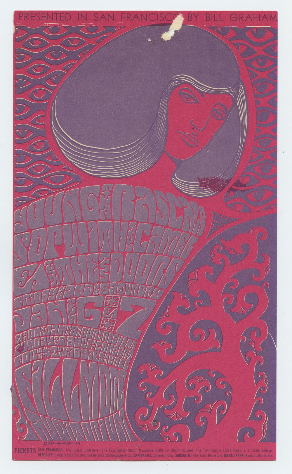 Bill Graham 044 Handbill Very Fine Condition