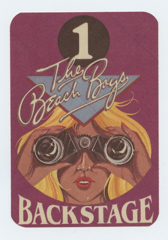 The Beach Boys Backstage Pass Bad Vibrations Tour 1982