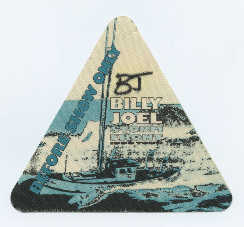 Billy Joel Backstage Pass 1990 Storm Front Tour