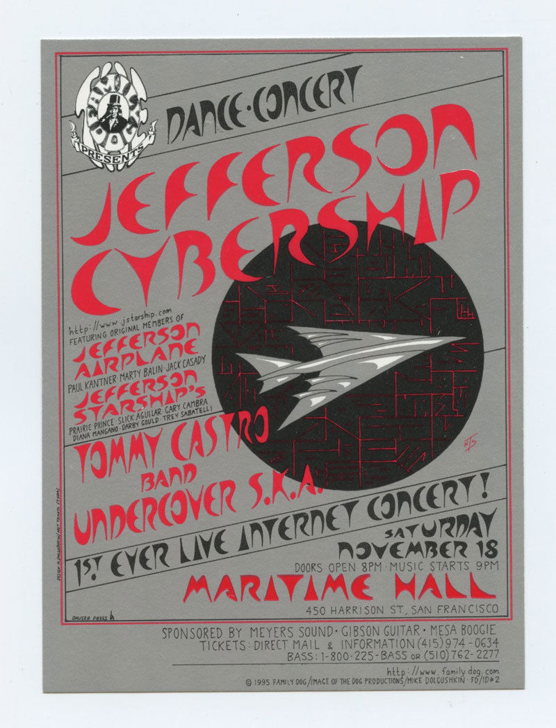 Maritime Hall 1995 Nov Handbill Jefferson Cybership