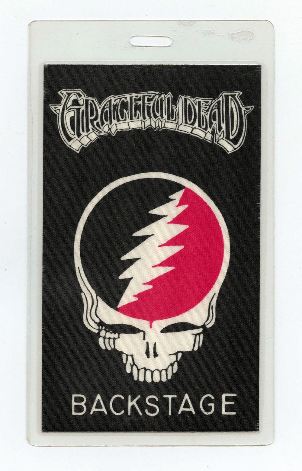Grateful Dead Backstage Pass Laminated 1983 Tour