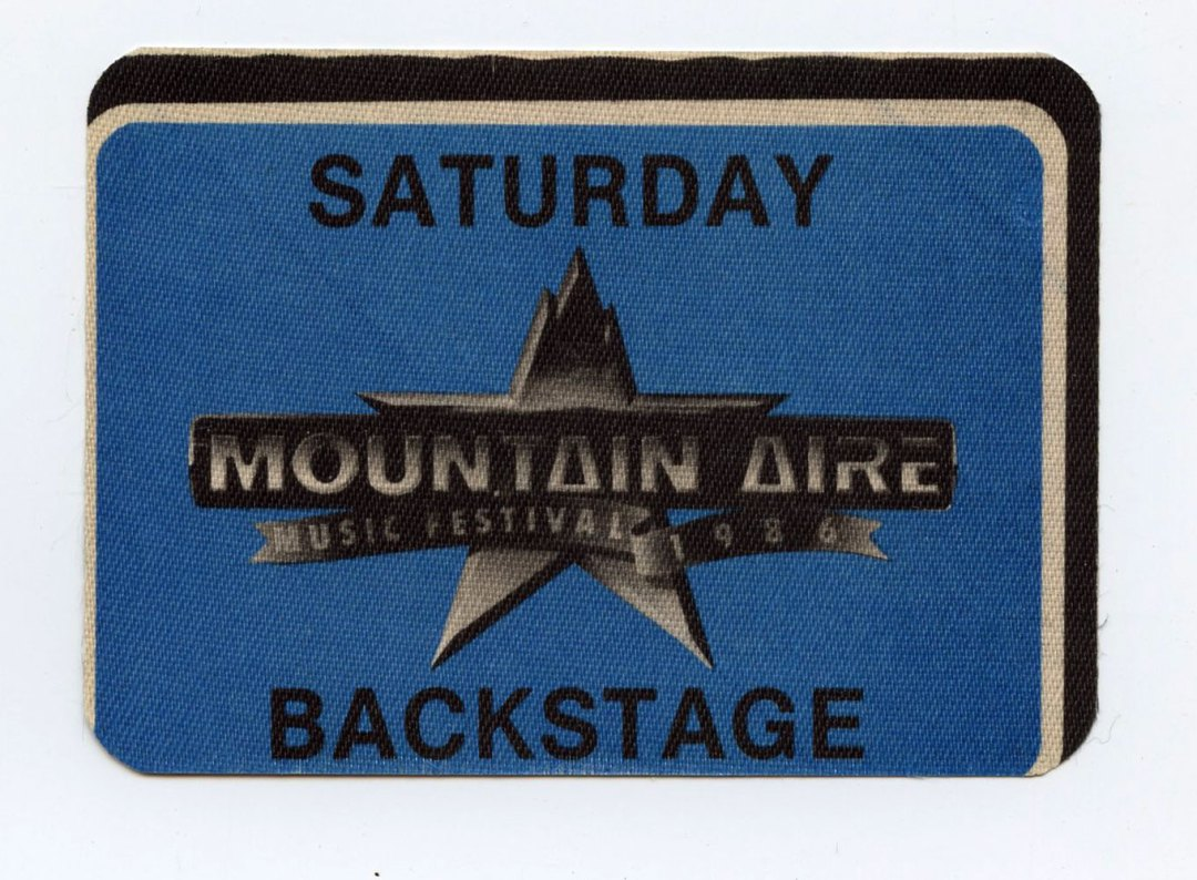 Mountain Aire Backstage Pass 1986 Aug 23