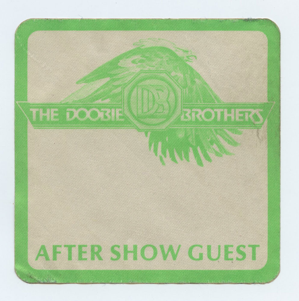 The Doobie Brothers Backstage Pass 1987 Oct 23 Reunion Arena Dallas TX