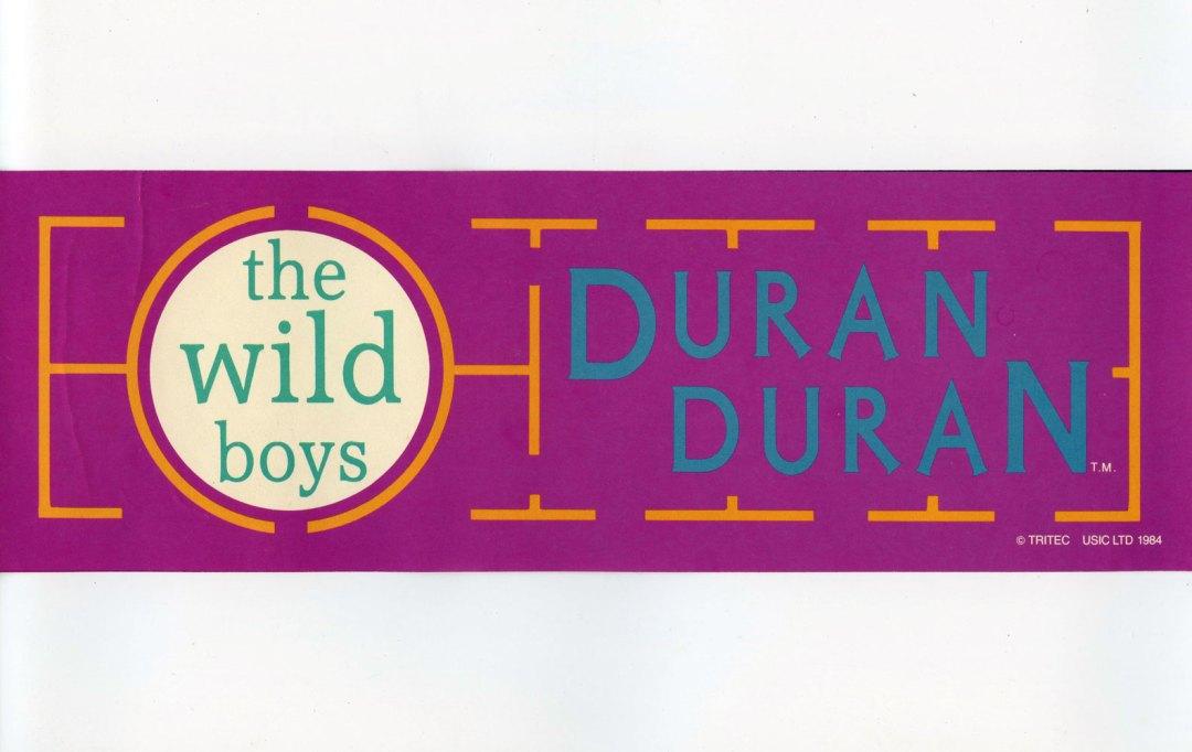 Duran Duran Sticker Decal 1984 Vintage