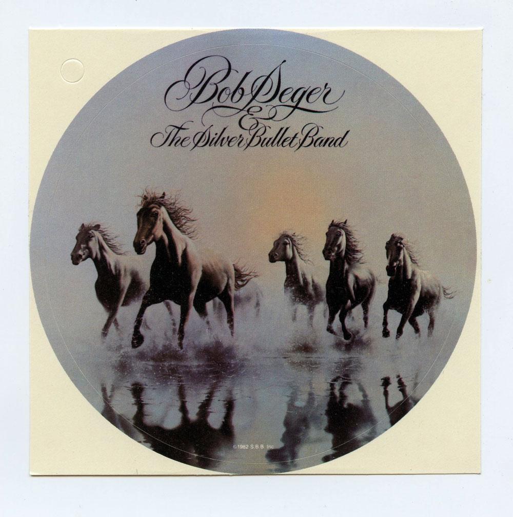 Bob Seger Sticker 1980 Against The Wind Album Promo
