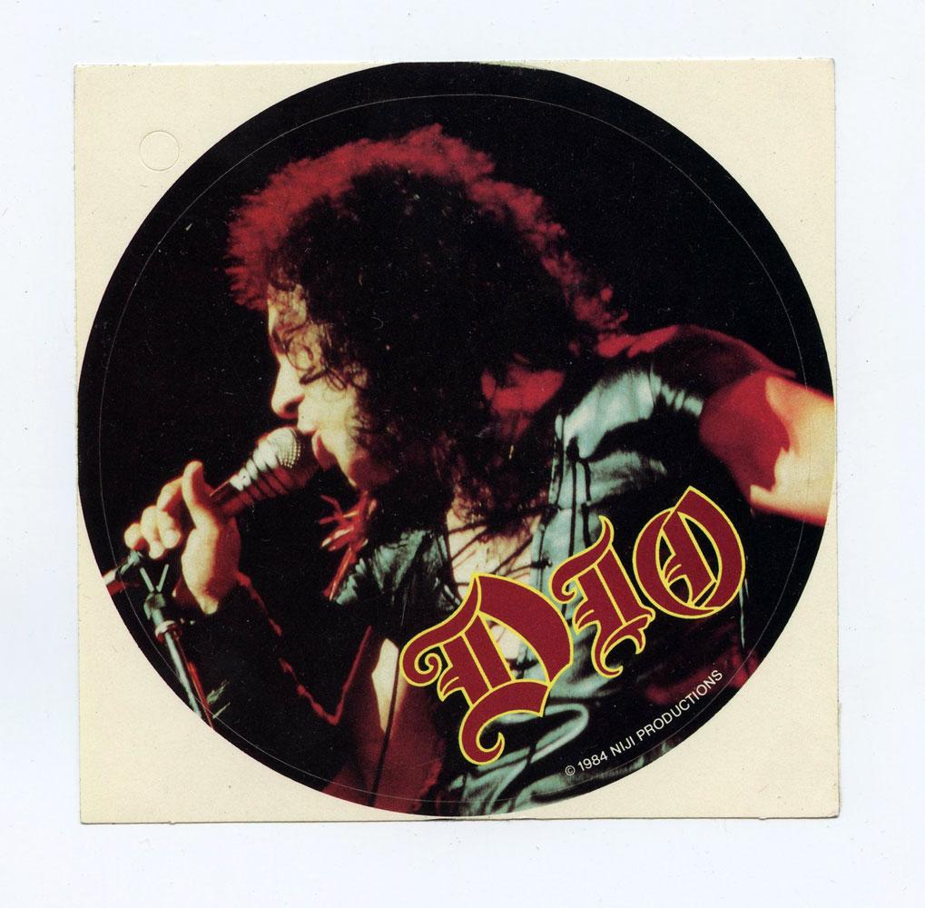 DIO Sticker Ronnie James 1984 Vintage