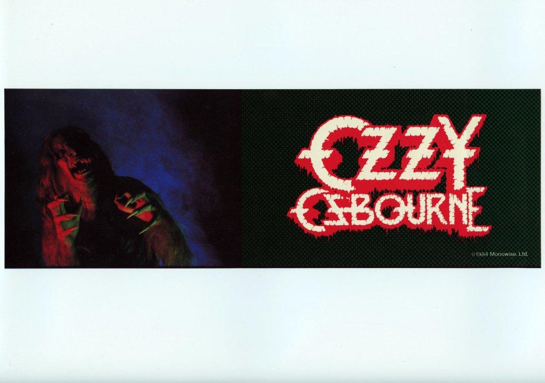 Ozzy Osbourne Sticker Decal 1982 Vintage