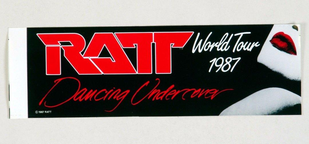 RATT Sticker Decal Dancing Undercover World Tour 1987 Vintage