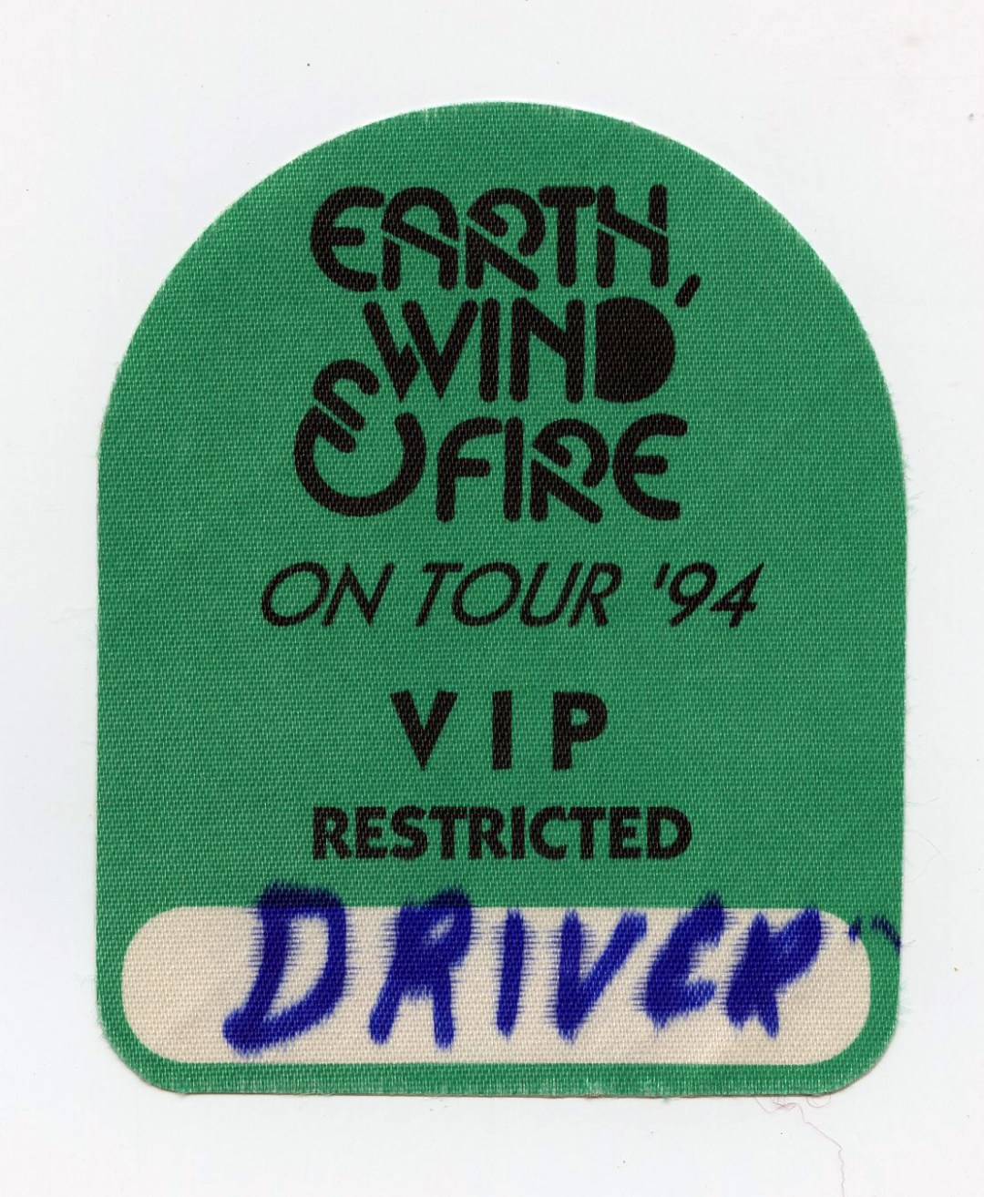 Earth Wind and Fire Backstage Pass On Tour 1994