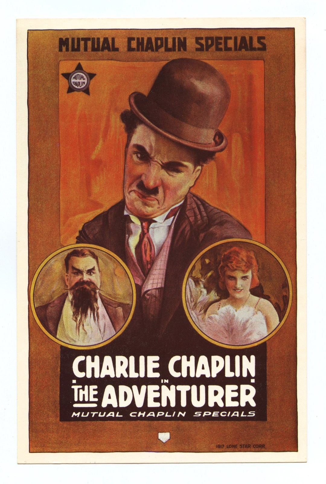 Charlie Chaplin Postcard The Adventurer