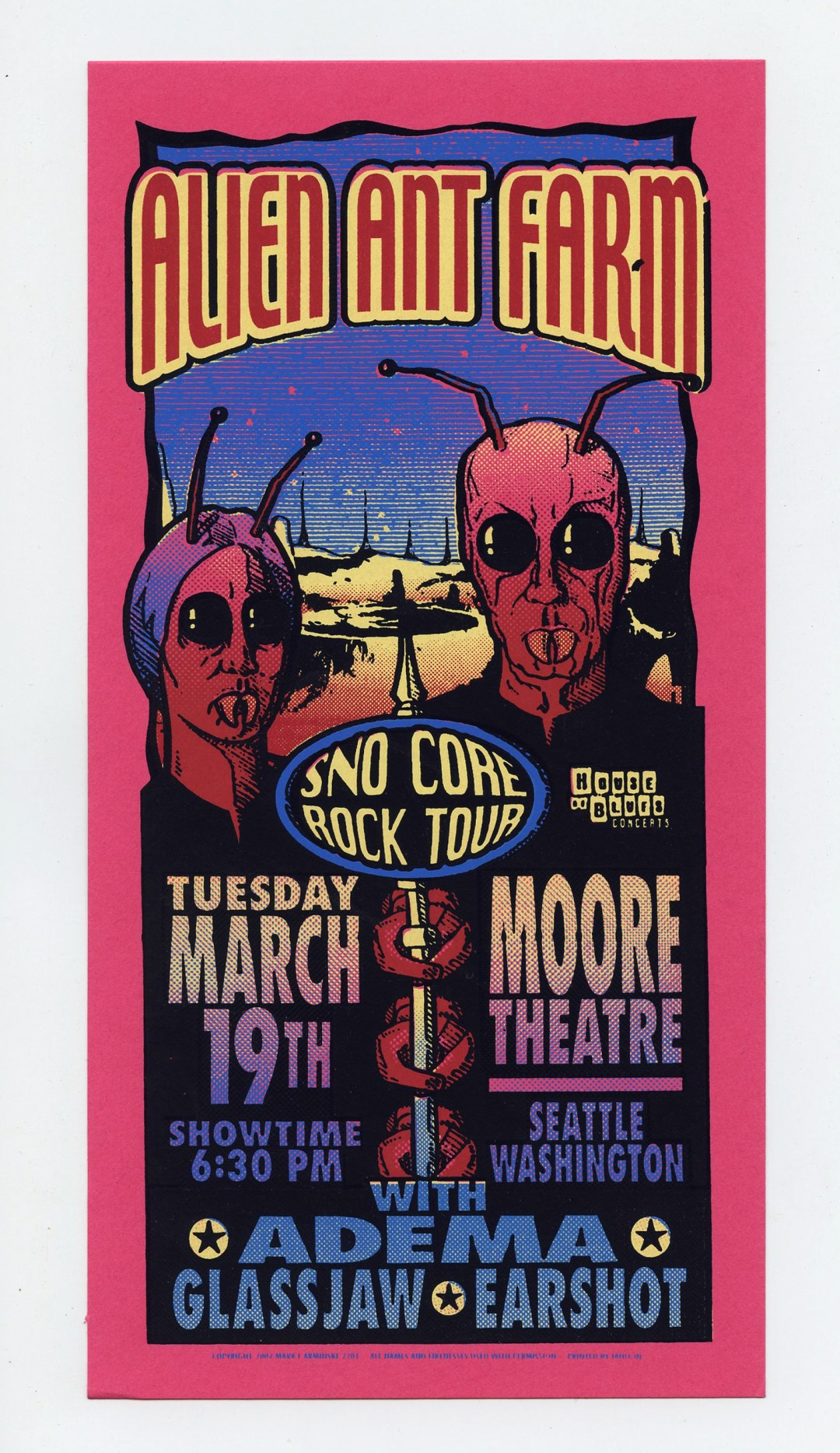 Alien Ant Farm Handbill Sno Core Rock Tour 2002 Mar 19