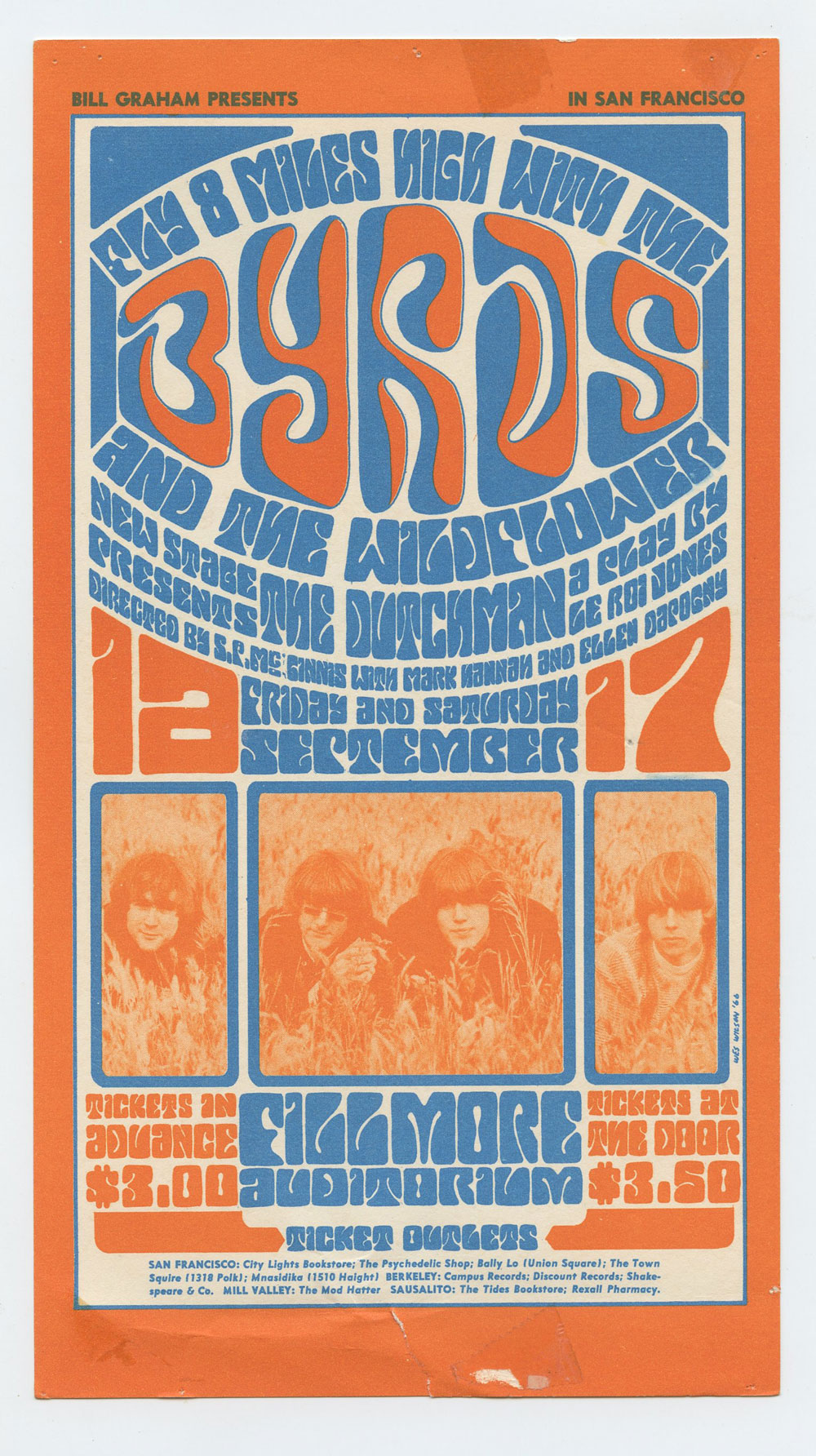 Bill Graham  28 Handbill Condition Very Fine