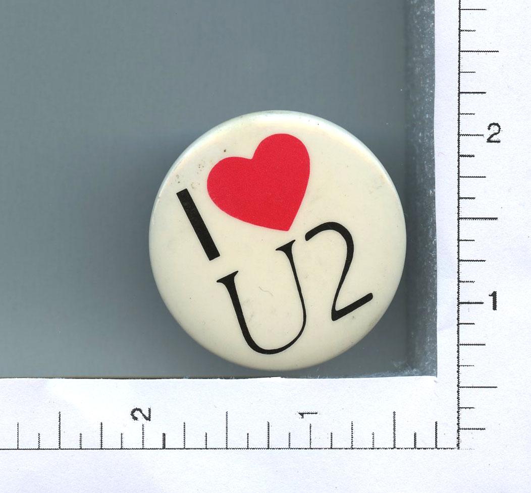 U2 Button I Love U2 1 3/4