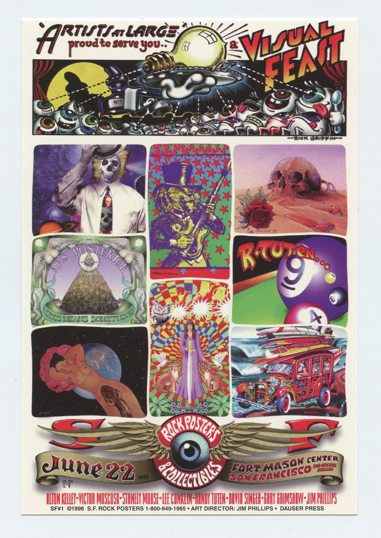 Rock Posters Collectibles Handbill 1996 Jun 22 Fort Mason San Francisco