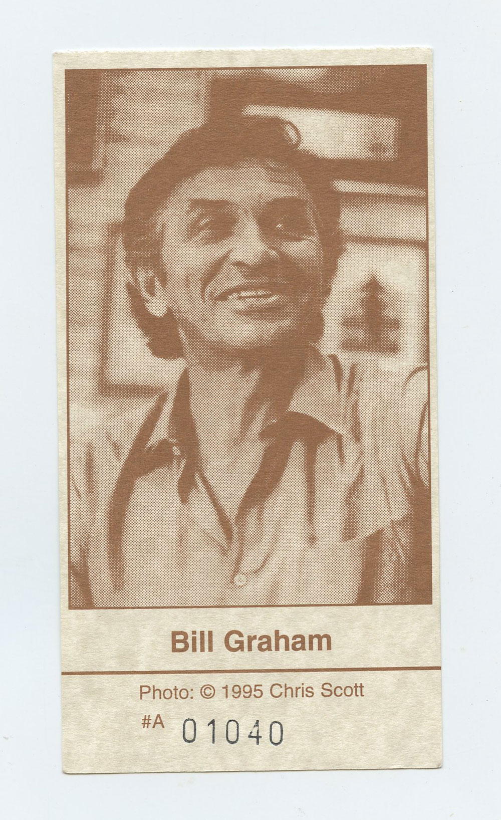 Bill Graham Memorial Ticket 1991 Nov 3 Laughter Love & Music Golden Gate Park