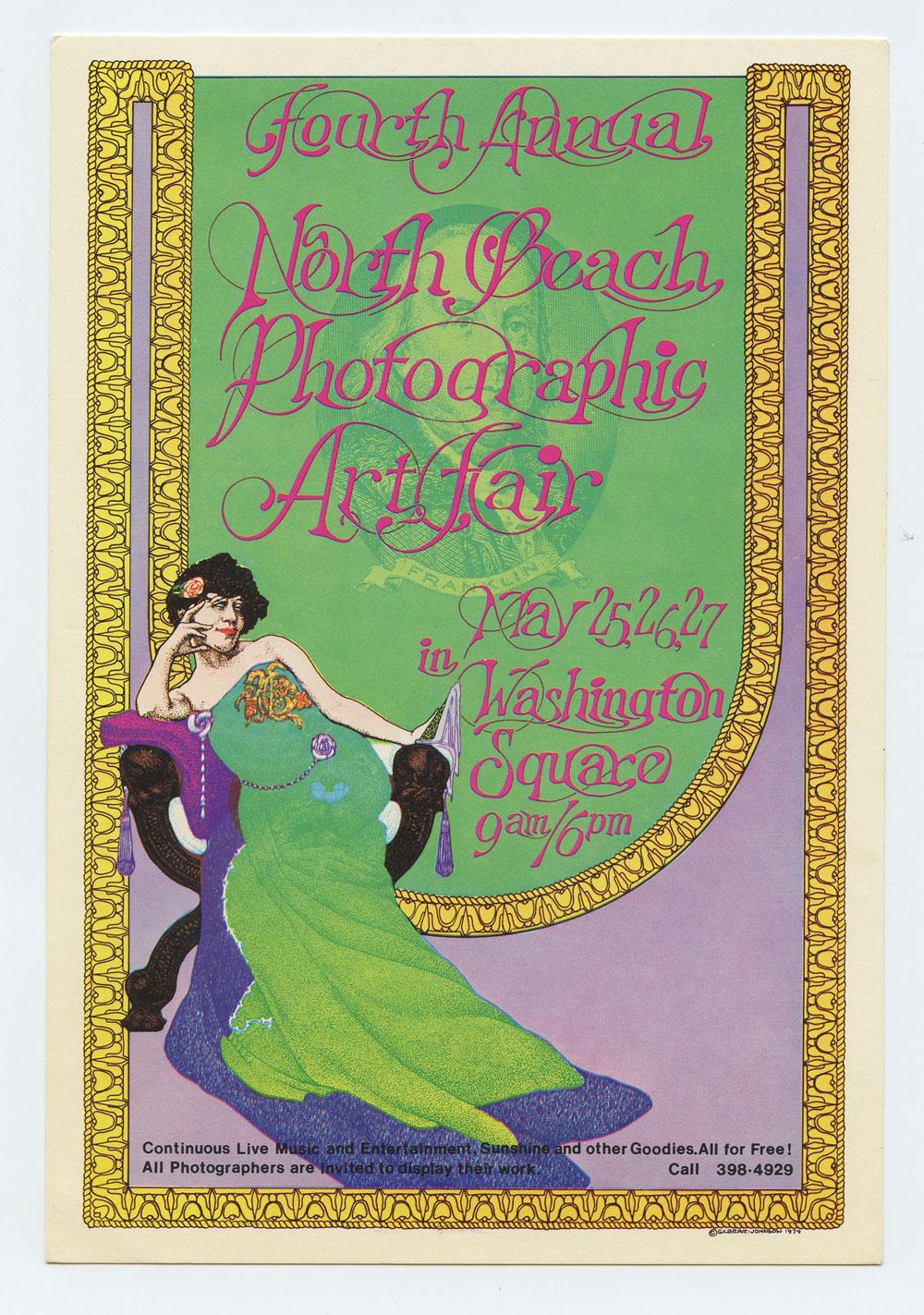 North Beach Photographic Art Fair Handbill 1974 May 25 Washington Square San Francisco Gilbert Johnson